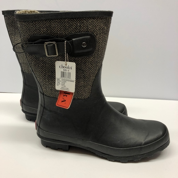 14dc68c9942ca New Women s Chooka Mid-Calf Rain Boots Black